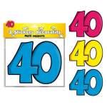 3 stickers décoratifs 40 ans