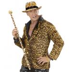 Canne léopard avec pommeau disco