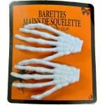 2 barrettes main de squelette