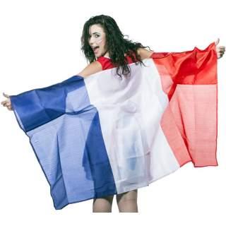 Poncho drapeau France