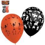 8 ballons fantômes et squelettes