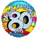 Ballon joyeux anniversaire 80 ans