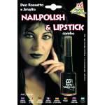 Vernis à ongles + lipstick noir