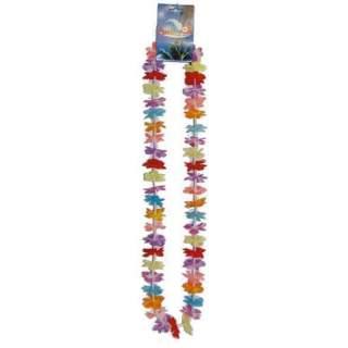 Collier fleurs multicolores