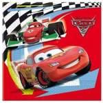 16 serviettes papier Cars 2