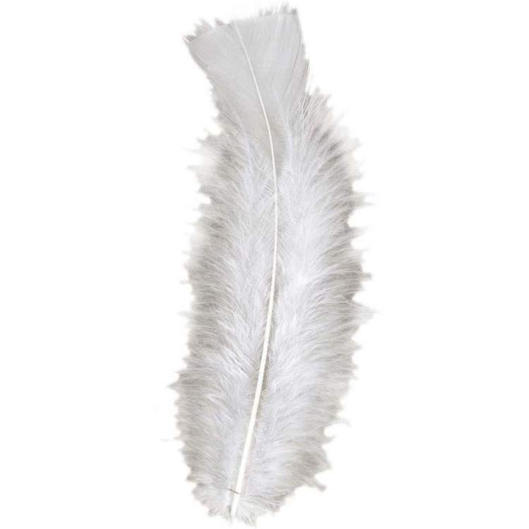 sachet de 50 plumes blanches m ga f te. Black Bedroom Furniture Sets. Home Design Ideas