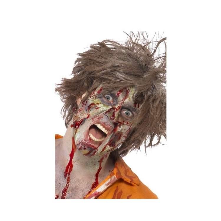 Halloween maquillage zombie maquillage fx peau zombie vert with halloween maquillage zombie - Tuto maquillage zombie ...