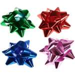 25 étoiles bolduc assorties