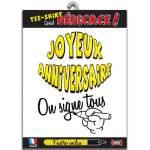 """T-shirt à signer """"Joyeux Anniversaire"""""""
